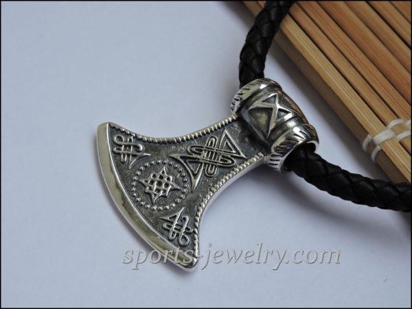 Stainless steel axe pendant