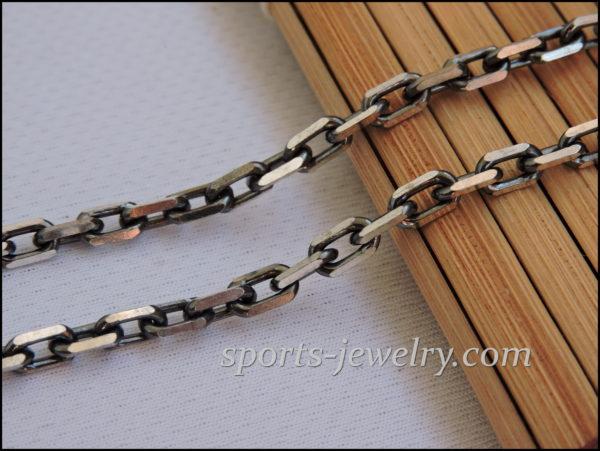 Anchor silver chain Photo