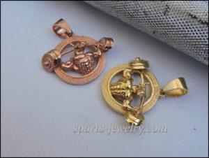 Gold bull pendant