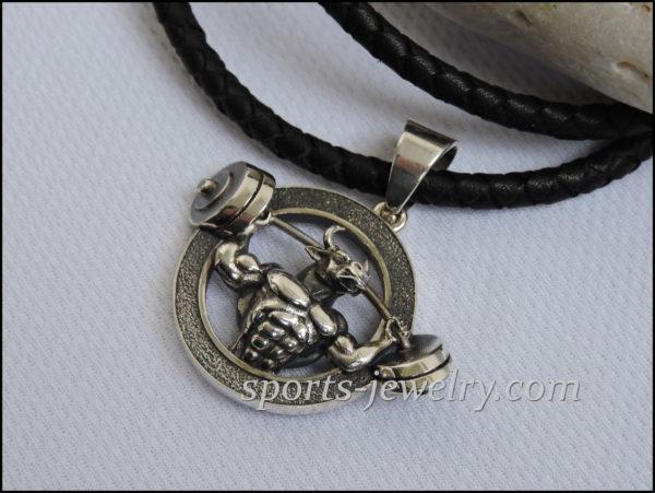 Silver Bull pendant