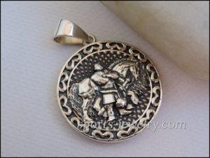 Silver Hero pendant