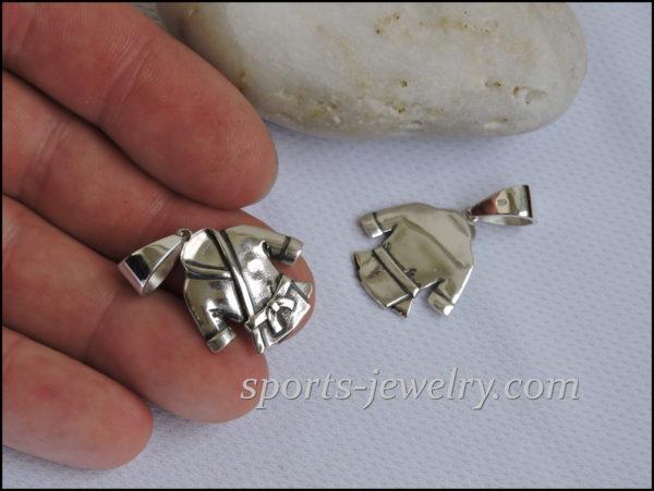 Silver Karate pendant
