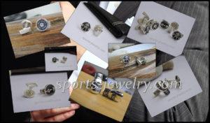 Sports cufflinks Weightlifting jewelry Kettlebell jewelry Fitness gift