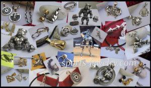 Sports gifts Fitness jewelry Fitness keychain