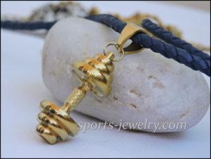 Dumbbell chain Gold
