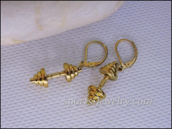 Dumbbell earrings Fitness gift