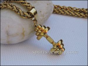 Gold Dumbbell chain