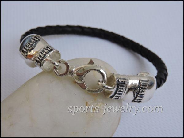 Sports bracelets for men Golden gloves jewelry