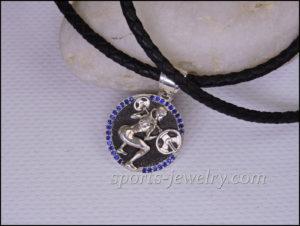Sports gift for girls Barbell pendant