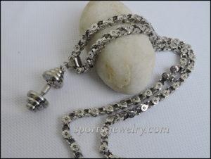 Chain steel Sport pendant Gym jewelry