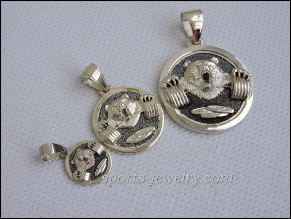 Gym jewelry Charm bear