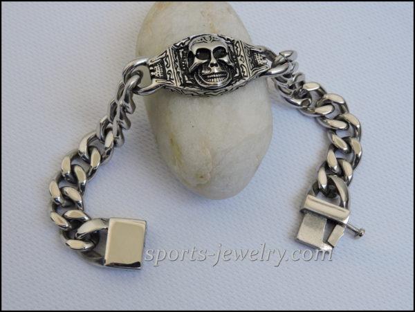 Men's Stainless steel bracelets Skull buy