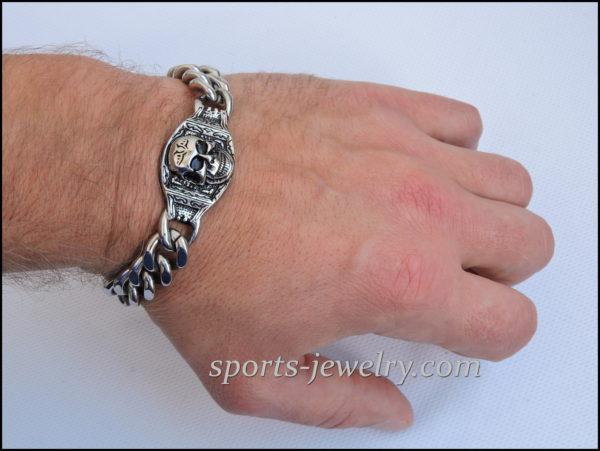 Men's Stainless steel bracelets Skull photo