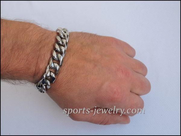 Men's Stainless steel bracelets large