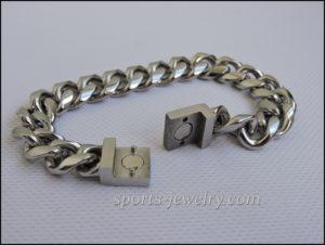Men's Stainless steel bracelets wide
