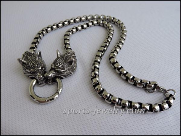 Men's stainless steel necklace Sport pendant