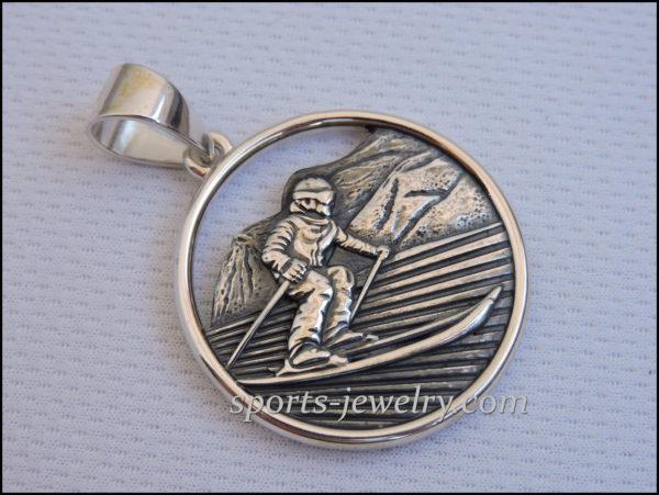 Silver Ski pendants