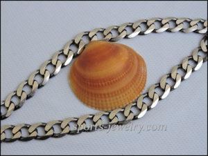 Silver big chain Gym jewelry