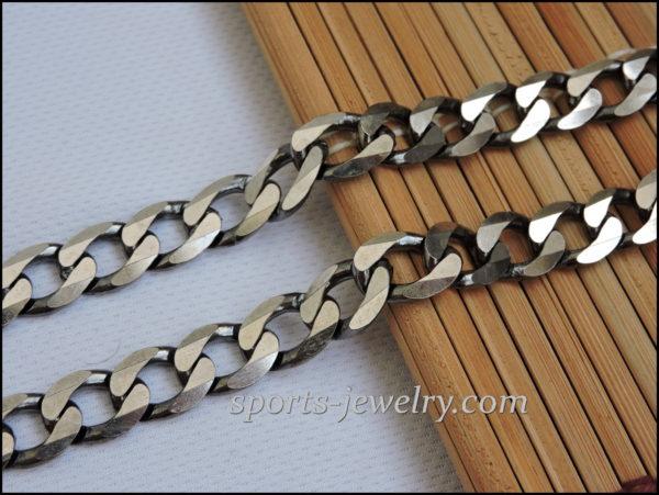Silver big thick chain