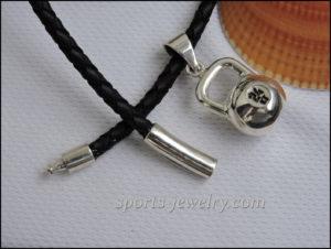 Silver kettlebell jewellery