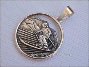 Ski pendant jewelry