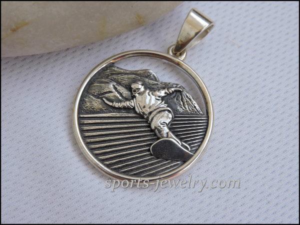 Snowboard jewelry Sports gift