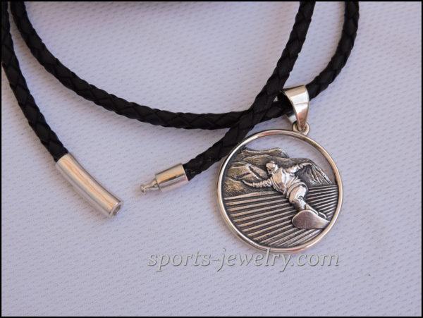 Snowboard jewelry pendant