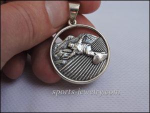 Sport jewelry Snowboard pendant