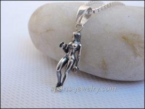 Sports gift for girls Sport jewelry Dumbbell pendant