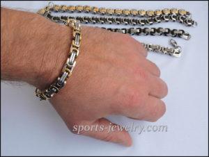 Stainless steel bracelet Beautiful photo