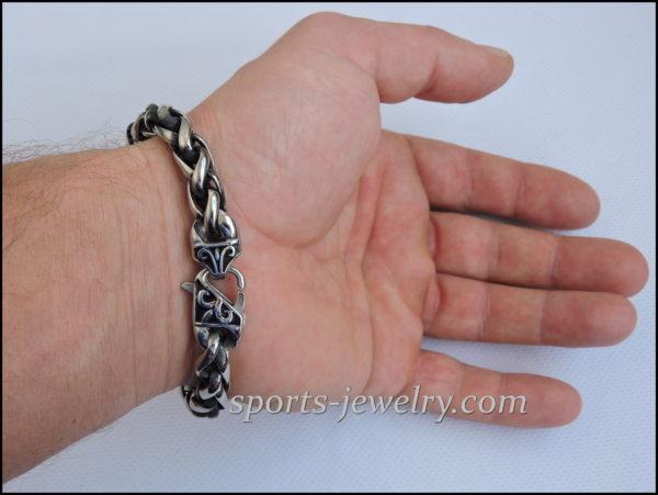Stainless steel bracelet Men's large