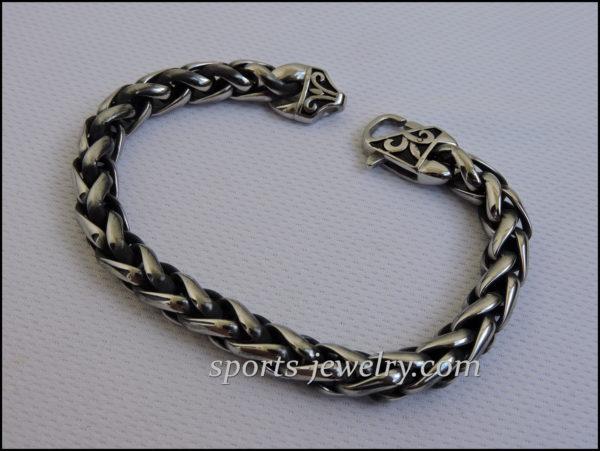 Stainless steel bracelet Men's wide