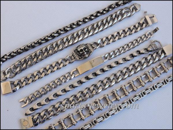 Stainless steel bracelets fg