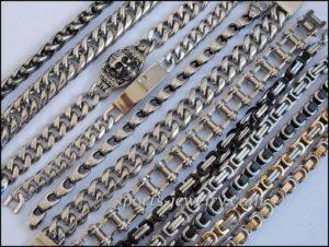 Stainless steel bracelets gold color