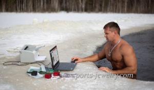 Winter swimming, sports extreme, Ice hole Winter hardening
