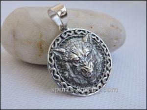 Wolf pendant Silver