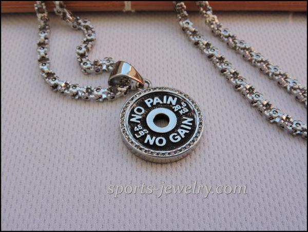 Women's stainless steel chain Gym jewelry