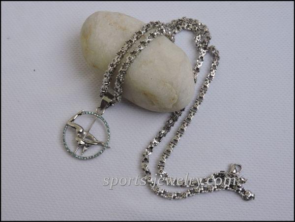 Women's stainless steel chain Sport pendant