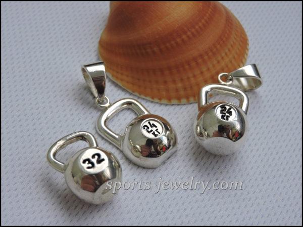 kettlebell jewellery Silver
