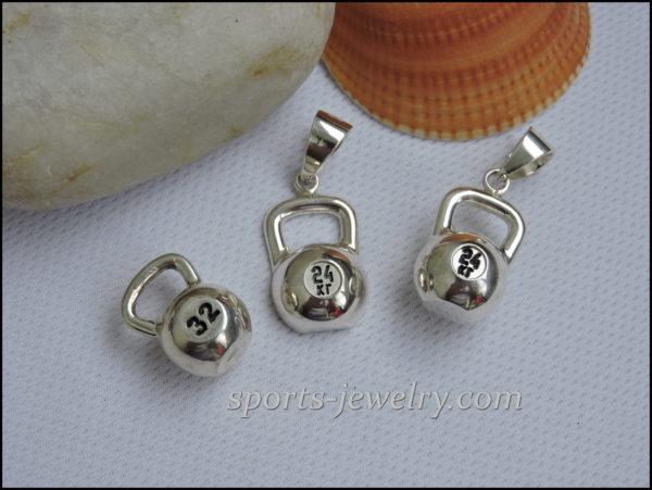 kettlebell jewellery Sport jewelry