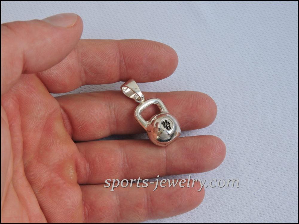 kettlebell jewellery necklace