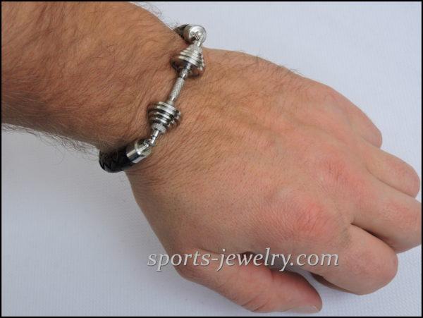 Barbell bracelets Bodybuilding gift