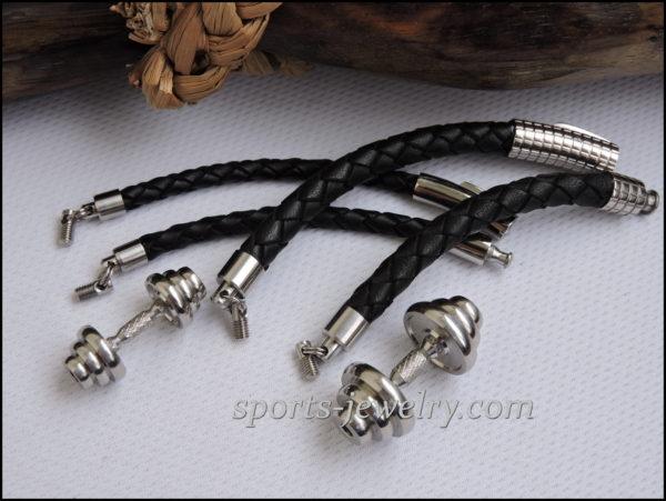 Barbell bracelets Sports gift for girls