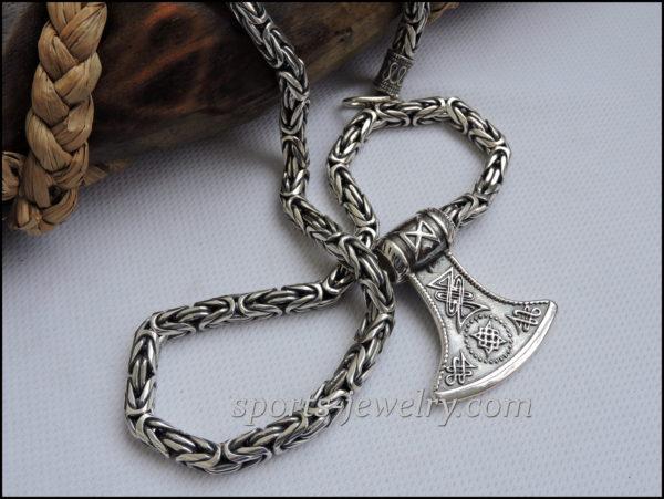 Chain necklace Byzantium jewelry silver