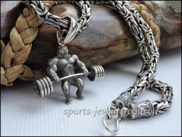 Chain necklace Byzantium silver