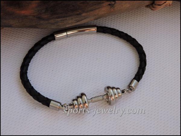 Dumbbell bracelet Bodybuilding gift