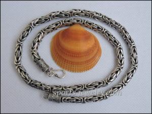 Silver Chain necklace Byzantium