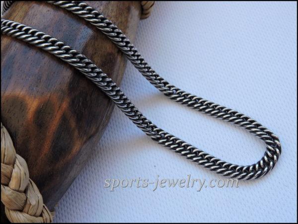 Stainless steel chain darkening necklace men