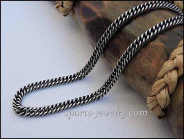 Stainless steel chain darkening necklace men women