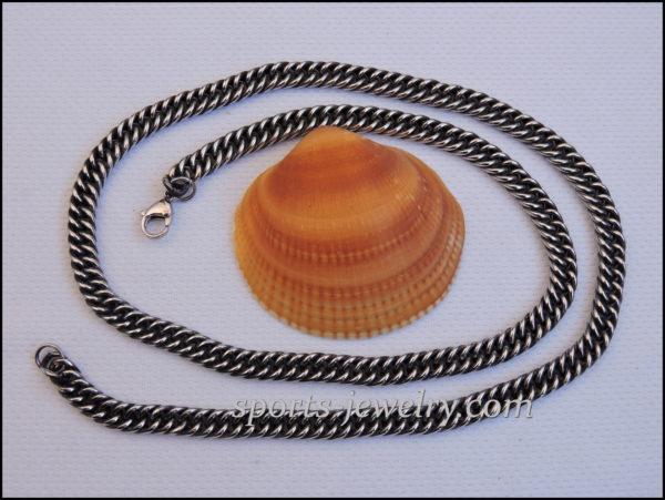 Stainless steel chain darkening necklace price photo